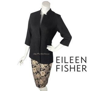 Eileen Fisher NWT one button wool pebble jacket